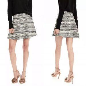 Banana Republic Fit and Flare Skirt Jacquard Skirt